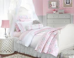 Girls Bed Skirt by An Ultra Feminine Color Palette Of Pink And White Is Offset With A