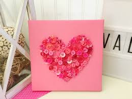 Valentine S Day Heart Decor by Valentines Day Crafts Diy Button Art Heart Decor