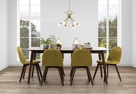 eve 7 piece dining table with chairs super amart dining