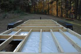 how to build a floor for a house adding the deck