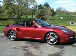turbo porsche red 2009 911 turbo cabriolet ruby red metallic 6spd 21k rennlist