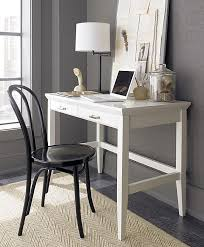 Small Executive Desks Small Office Desk Stylish White Lacquer Decoist Make Something