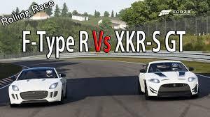jaguar k type forza motorsport 6 drag race jaguar xkr s gt vs jaguar f type r