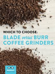 Coffee Blade Grinder Which Type Of Grinder To Choose U2014 Reboot Roasting Omaha