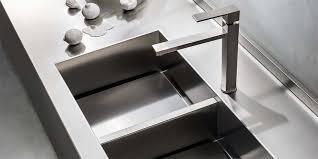lavello cucina acciaio inox lavello a 2 vasche in acciaio inox one ernestomeda