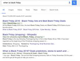 best black friday 2016 website to search deals google featured snippets how to jump above serp u0027s top