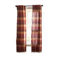 martha stewart living miso merlot faux silk plaid curtain plaid