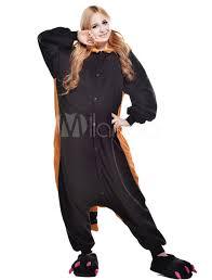 halloween onesie kigurumi pajama raccoon onesie for fleece flannel black