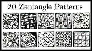 easy 20 zentangle patterns for beginners