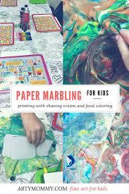 preschool fine art series paper marbling u0026 scrape painting u2013 arty