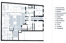 100 day care floor plan gallery of day care center