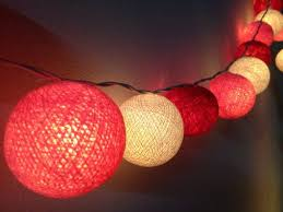 red string lights for bedroom cotton ball string lights for home decor party decor wedding patio