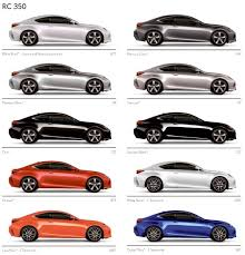 lexus paint colors exterior colors in lexus rc350 rcf forum