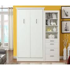 Modern Storage Cabinet Stella Twin Murphy Bed With Storage Cabinet White Mdh Modern