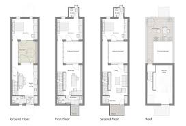 courtyard row house marc medland architect building plans online