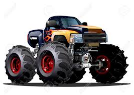 bigfoot 10 monster truck cartoon monster truck available eps 10 vector formats separated