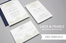 downloadable wedding invitations free template lace pearls wedding invitation set invitation