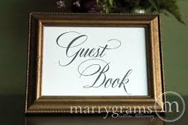 alternative guest book wedding guest book sign calligraphy style reception signage