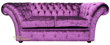 chesterfield balmoral purple 2 seater sofa settee boutique crush