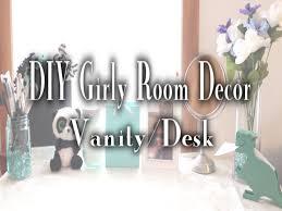Girly Desk Accessories by Diy Girly Room Decor Vanity Desk Decor Glittertogaming Hd