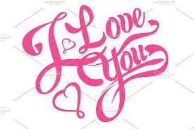 i love you lettering design tattoo script fonts creative market
