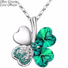 necklace for s day women s day factory hotsell austrian four leaf leaves