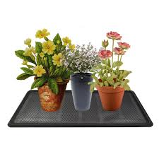 floor plant footsteps 1 pack rubber snow boot tray all weather shoe tray