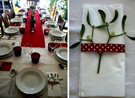 red silk table cloth on round dining table with glass wine and
