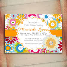 despedida invitation bridal shower invitation multicolored flowers bridal shower