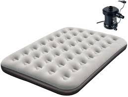 single double mattress flocked inflatable airbed camping