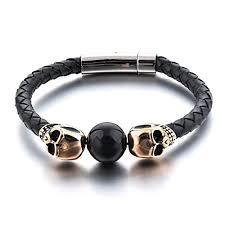 bracelet men skull images Manhattan edge men 39 s skull bracelet bad boy vibe jpg