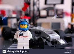 lego speed champions mclaren lego mclaren mercedes driver minifigure standing in front of his