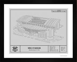 houston texans nrg stadium blueprint art gift wall art