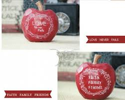 Apple Home Decor Red Apple For Home Decor Personalized Wedding Gift 3 In Pne