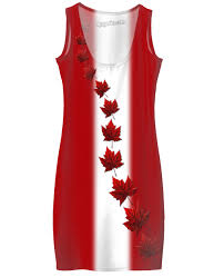 Candaian Flag Flag Dress Lady U0027s Canadian Flag Souvenir Dresses