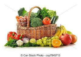 fruit and vegetable basket stock photos of composition with vegetables and fruits in wicker