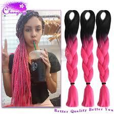 xpressions braiding hair box braids 30 10pcs lot ombre kanekalon braiding hair 1b pink kanekalon jumbo