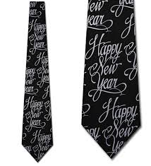 new years ties happy new year tie black formal necktie by three rooker at