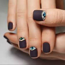 nail design for short nails black matte nail ideas pinterest