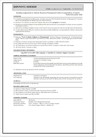 Sample Resume For Teaching Profession For Freshers by Fresher Sample Resume Format Resume Format