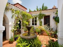 baby nursery spanish style homes with courtyards small spanish