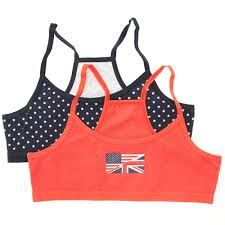 Flag Crop Top Pack Of 2 Flag Print Crop Tops Girls Age 10 To 18 Years Red