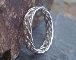 braided ring sterling silver braided ring 5 strand braided ring celtic knot