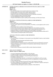 resume template financial accountants definition of respect financial regulatory reporting resume sles velvet jobs