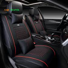 siege auto avant voiture avant arrière en cuir spécial housse de siège de voiture pour