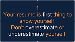 Tips For A Perfect Resume Tips For A Perfect Resume Five Dos And Donts In Preparing The