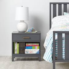 cargo nightstand charcoal the land of nod