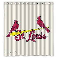 Curtains St Louis Curtains St Louis Cardinals Shower Curtain Best Of Cardinals