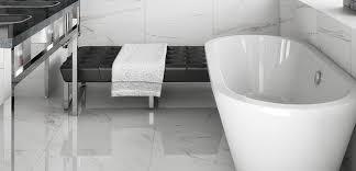 Bathroom Tiles Toronto - classic bianco carrara porcelain tile bathroom toronto by
