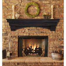 dogberry collections rustic fireplace mantel shelf hayneedle